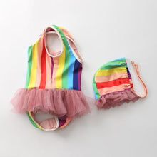Load image into Gallery viewer, Rainbow Tutu Baby Toddler Kids Bathing Suit