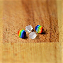 Load image into Gallery viewer, Rainbow Mini Stud Round Earrings
