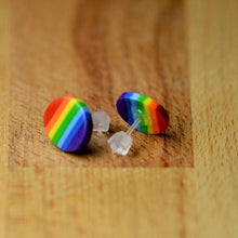 Load image into Gallery viewer, Rainbow Round Stud Earrings