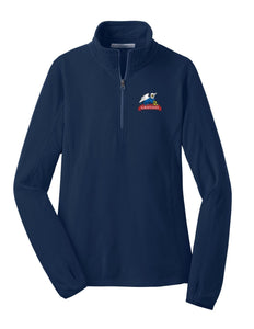Ladies Light Weight Microfleece ½-zip pullover
