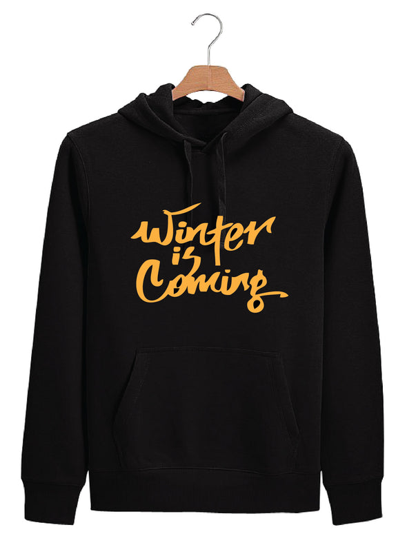 Winter Is Coming Men Black Hoodie