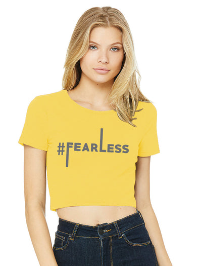 #Fearless Yellow Crop Top