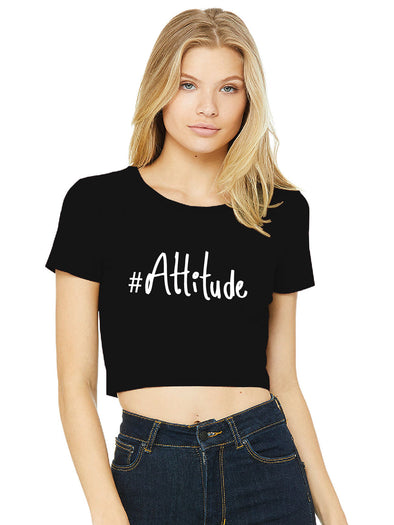 #Attitude Black Women Crop Top