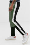 Military Green and Black Men Joggers
