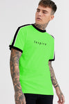 Inspire Men Neon Green Half Sleeves Tshirt