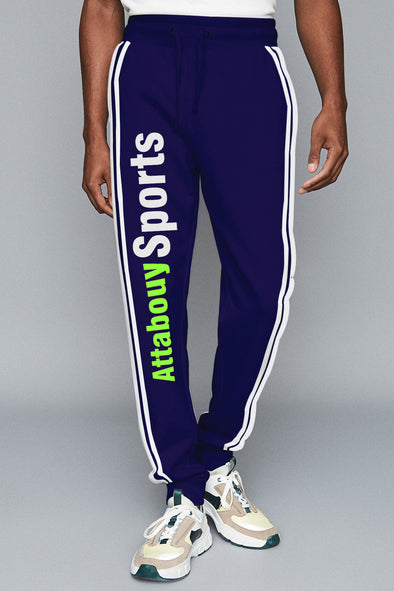 Attabouy Sports Navy Blue Men Joggers
