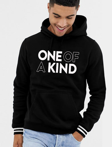 One Of A Kind Men Black Hoodie