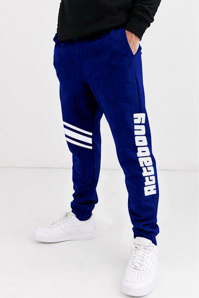 Attabouy Three Stripes Navy Blue Men Joggers