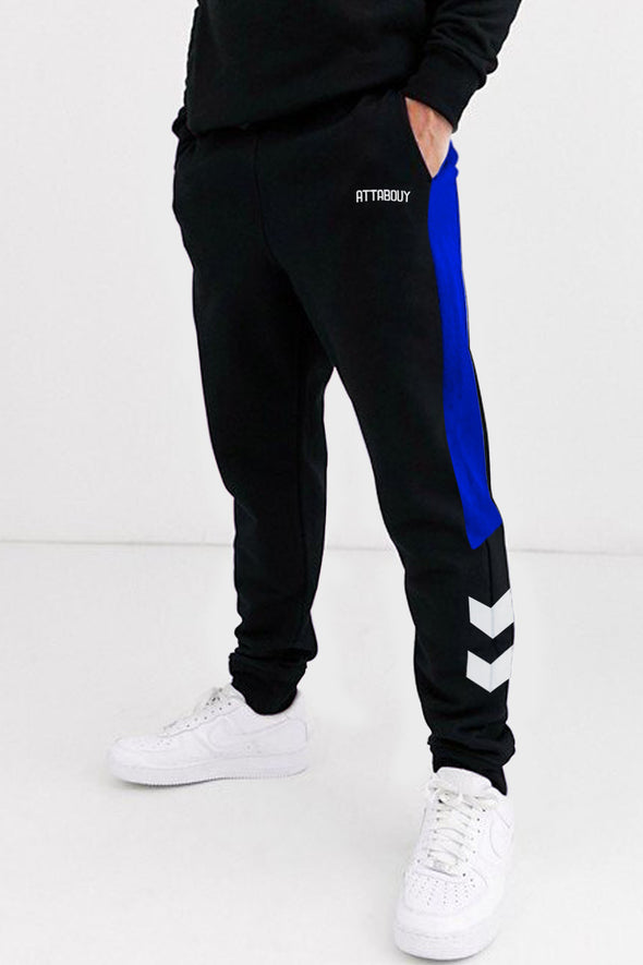 White Arrow Black Men Joggers