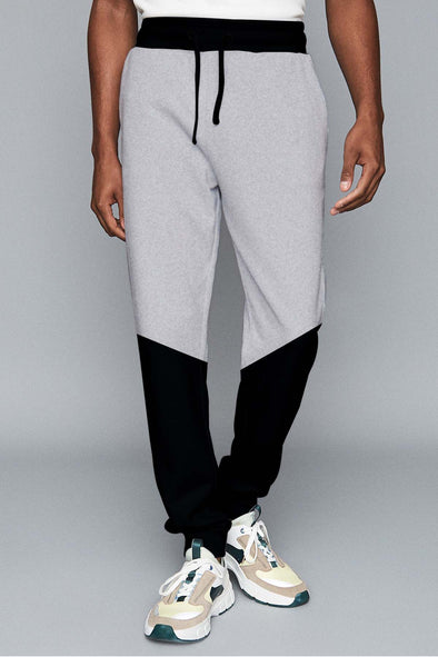 Black Bottom Grey Melange Men Joggers