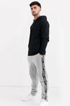 Attabouy Stripe Grey Melange Men Joggers