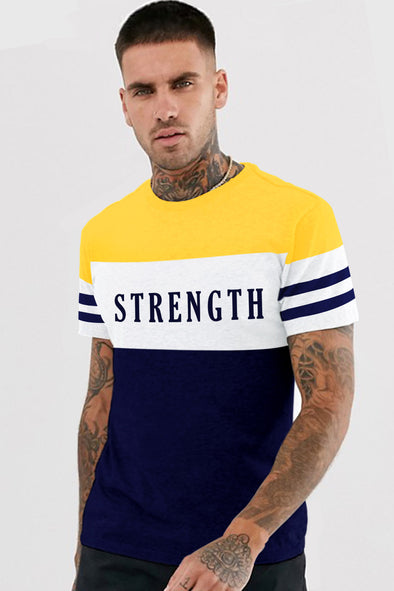 Strength Round Neck Half Sleeves Tshirt