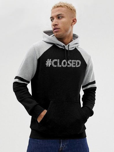 #Closed Men Black Hoodie