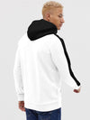 White and Black Stripe Hoodie