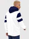 Navy Blue and White Hoodie