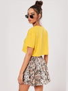 Attabouy Yellow Women Crop Top