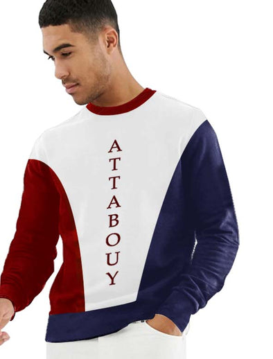 Attabouy Men Tri-Colour Sweatshirts