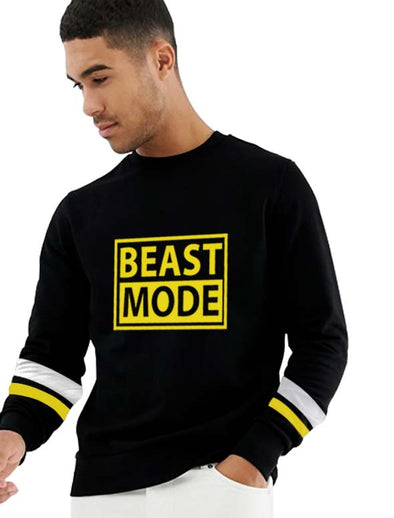 Beast Mode Men Black Sweatshirt