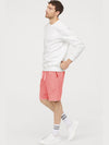 Peach Fleece Basket Ball Shorts