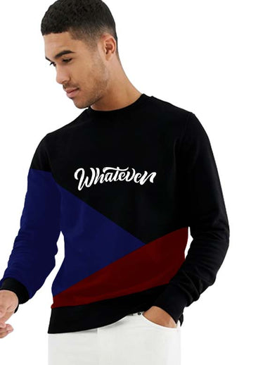 Whatever Men Black Sweatshirt