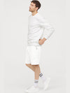 White Fleece Basket Ball Shorts