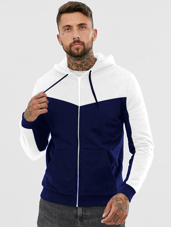 NB and White Zipper Hoodie