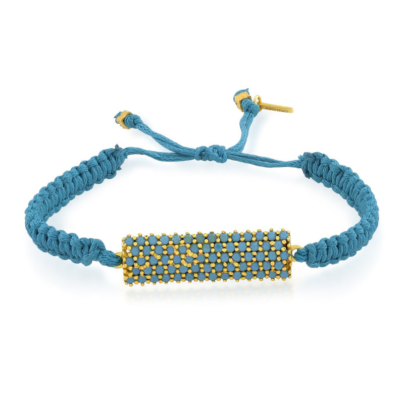 Adjustable Studded Bar Bracelet (Blue) BRACELET ARVINO