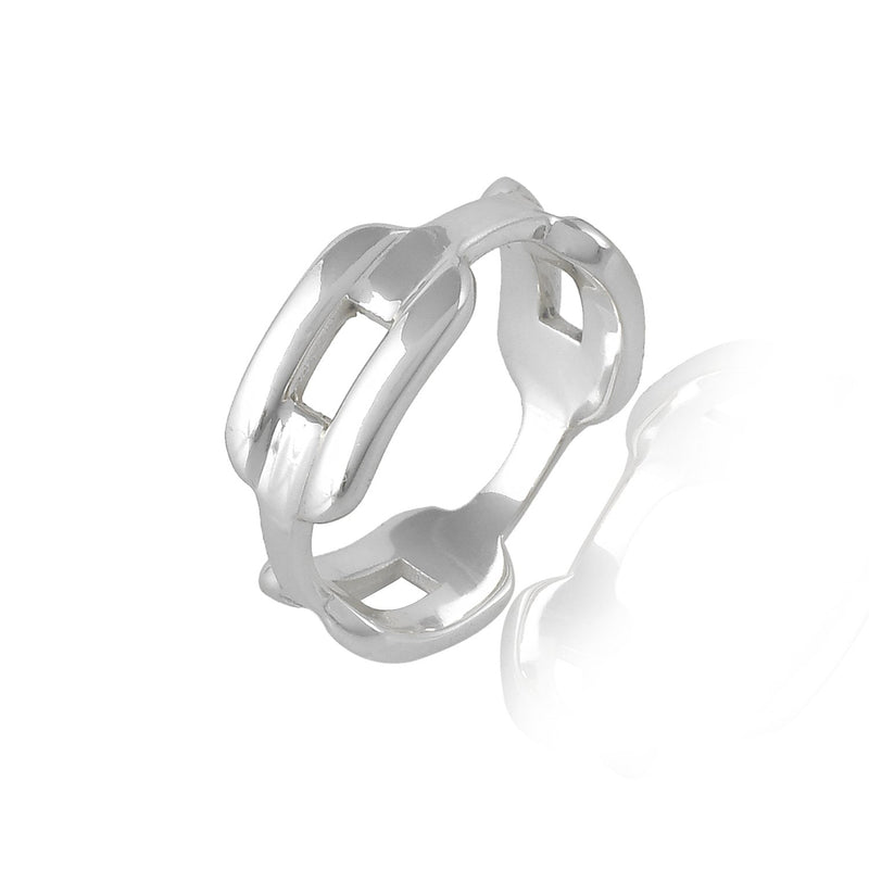 CHUNKEY CHAIN RING RING ARVINO SILVER 5