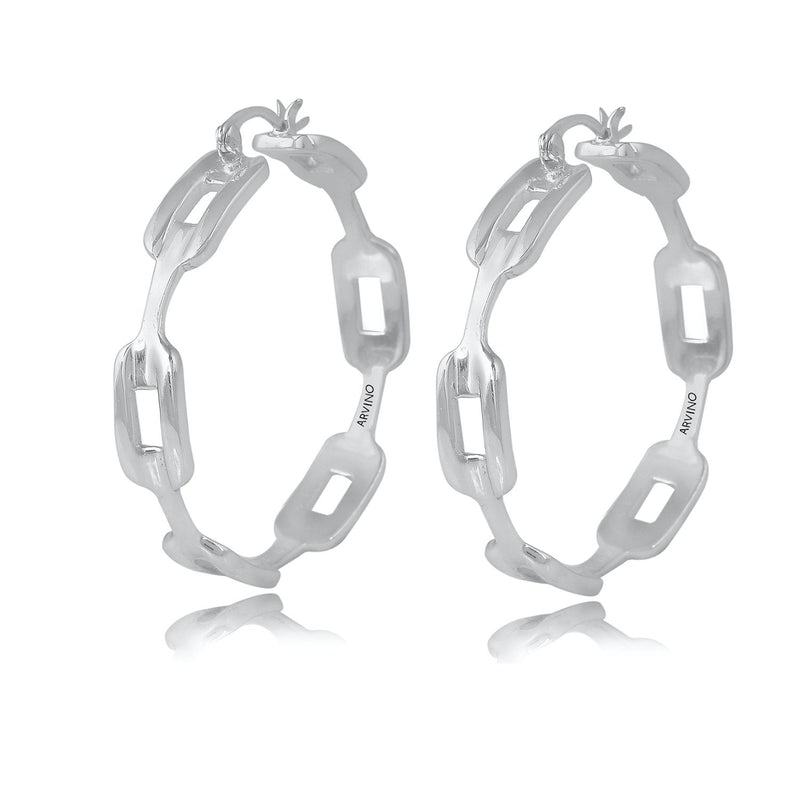 Chunky Chain Earring EARRING ARVINO SILVER