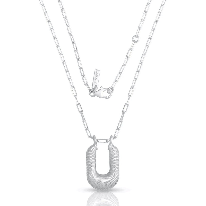 Chunky Frill Pendant NECKLACE ARVINO SILVER
