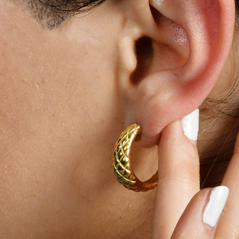 COMPOSE DOME HOOPS EARRING ARVINO