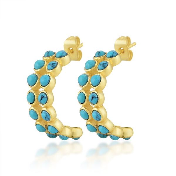 Dotted Hoops (Tourquoise) EARRING ARVINO