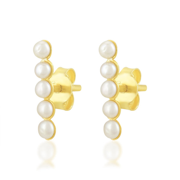 Five Of Pearl Studs EARRING ARVINO