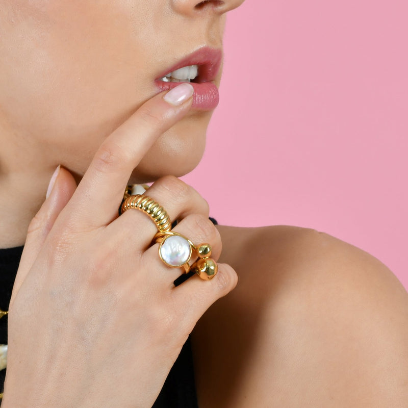 FRESH WATER PEARL RING RING ARVINO