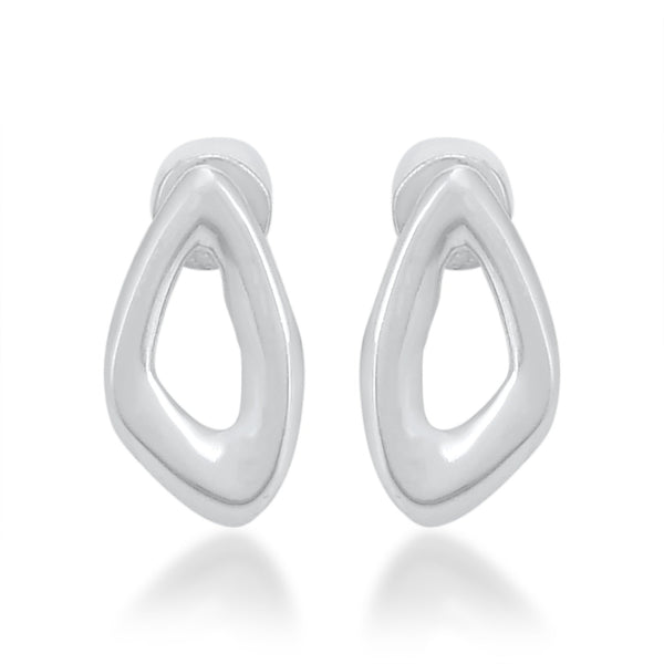 HOLLOW STUD EARRING ARVINO SILVER