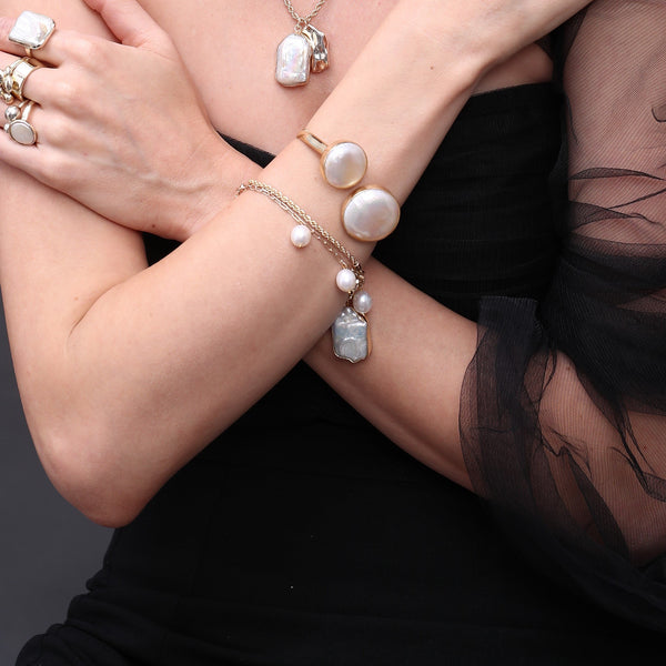 MINI PEARL DROPLETS BRACELET BRACELET ARVINO