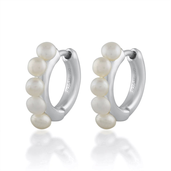 Mini Pearl Droplets EARRING ARVINO SILVER