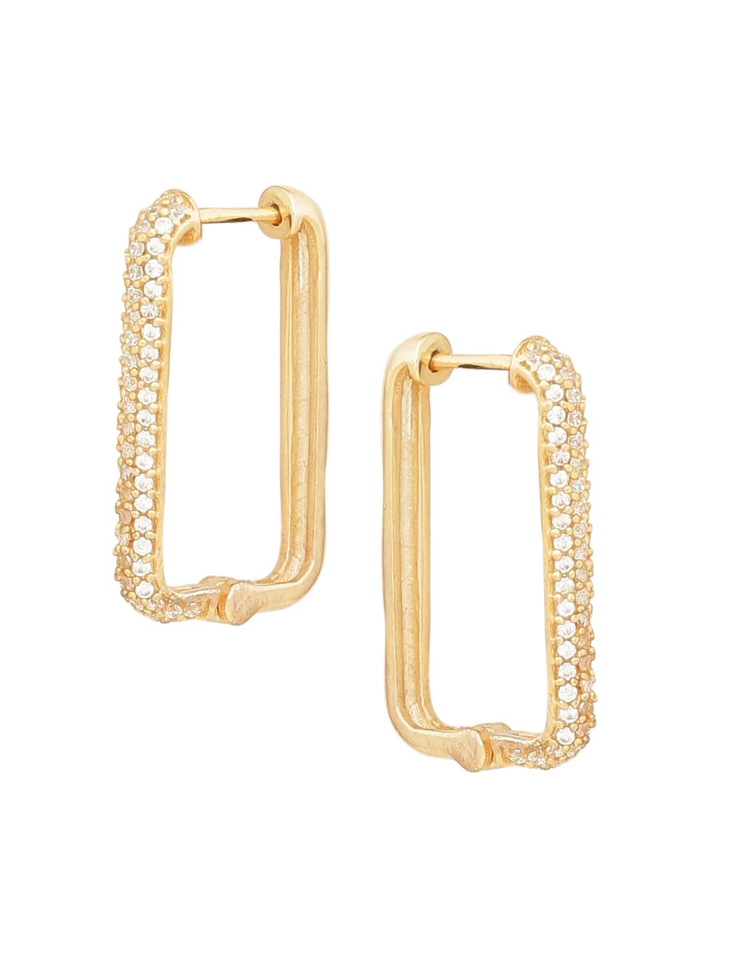 Oblong Studded Huggies earrings ARVINO