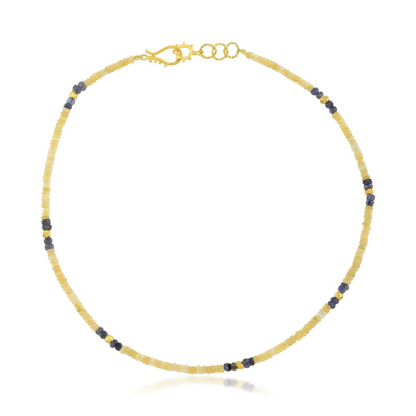 Opal & Iolite Beaded Necklace NECKLACE ARVINO