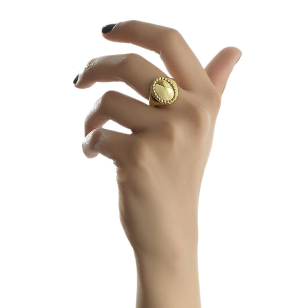 OVATE SIGNET RING RING ARVINO