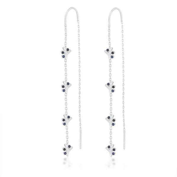 Studded Blue Threaders EARRING ARVINO