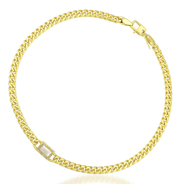 Studded Chain Cord Necklace (Pearl) NECKLACE ARVINO