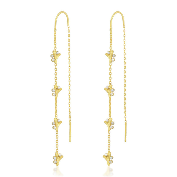 Studded Pearl Threaders EARRING ARVINO