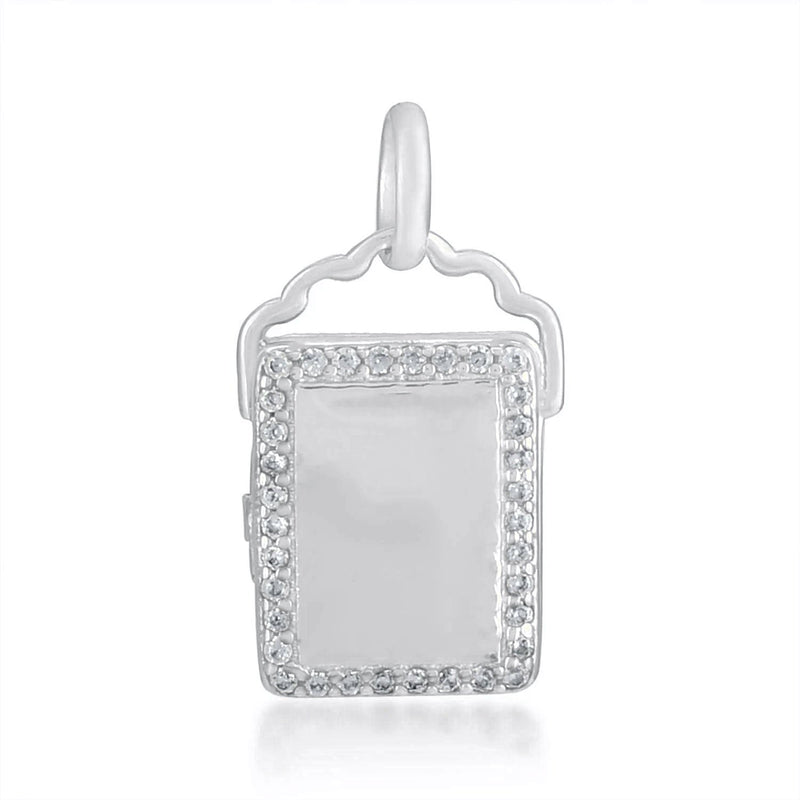 Studded Photo Locket CHARM ARVINO SILVER