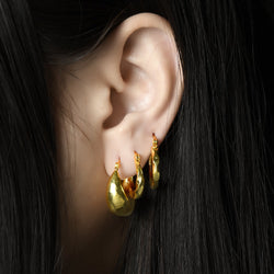 TEXTURED MINI DOMES EARRING ARVINO