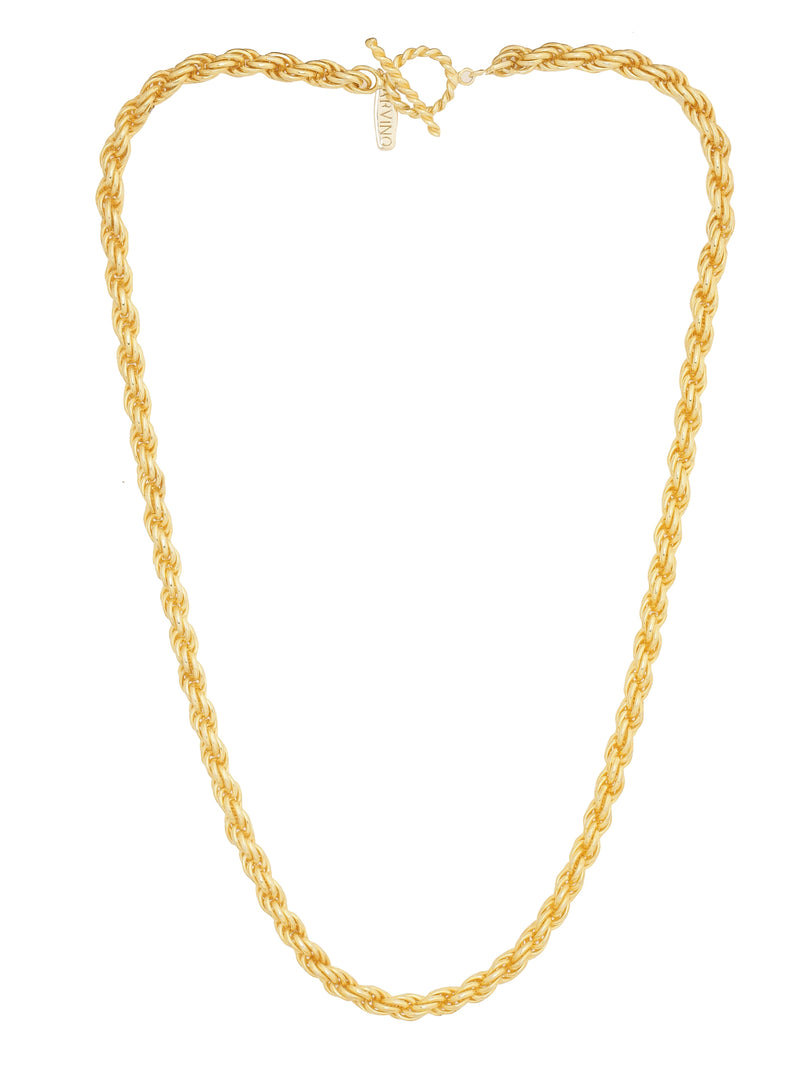 Thick Long Swirl Chain NECKLACE ARVINO
