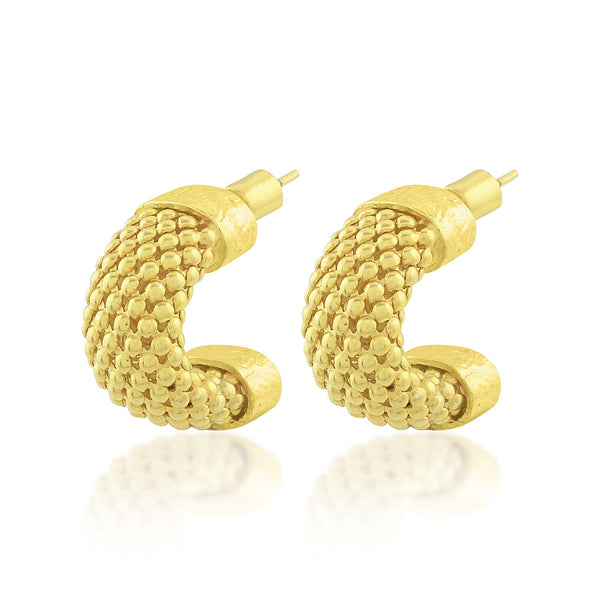 Thick Snake Chain Hoops 1 EARRING ARVINO
