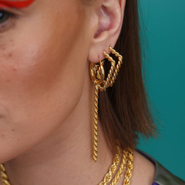 Twisted Hoop Earrings EARRING ARVINO