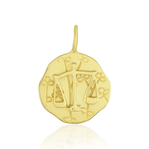 Zodiac Charm (Libra) NECKLACE ARVINO PENDANT ONLY