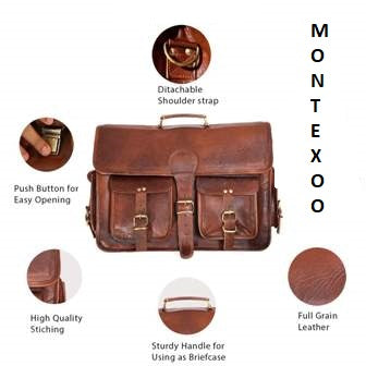 HANDMADE BROWN VINTAGE LEATHER MESSENGER BAGS